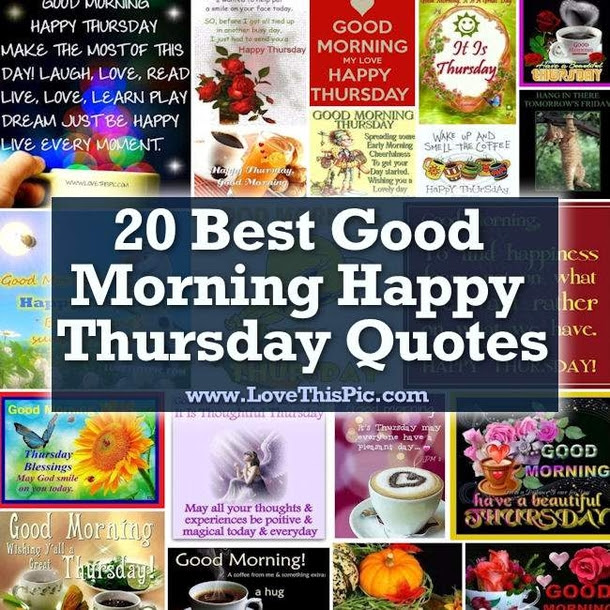 20 Best Good Morning Happy Thursday Quotes