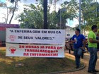 Enfermeiros deflagram greve em Rio Branco (Quésia Melo/ G1)