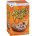 Reese's Crunchy Corn Puffs Cereal, Peanut Butter - 49.5 oz box