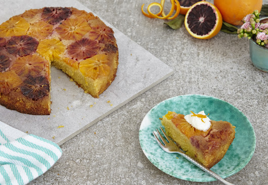 Blood Orange Polenta Cake (gluten free) - Maison Cupcake