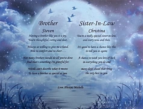 anniversary poem brother and sister in law   Google Search