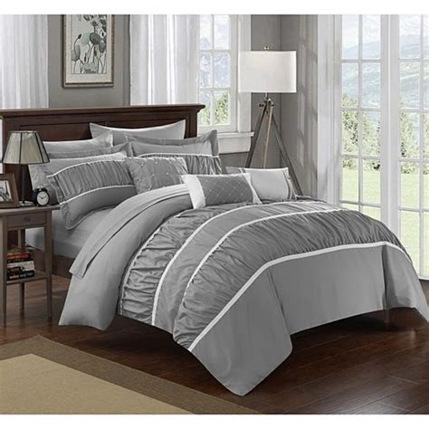 buy chic home  piece aero pleated ruffled bed   bag
