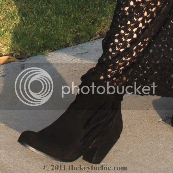 crochet kimono dress, Sam Edelman Louie boots, California fashion blog
