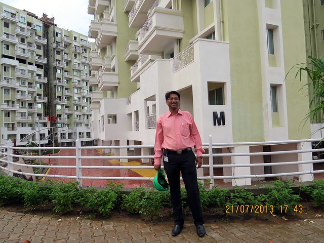 Mr. Vikrant Shinde, Sales Manager - Monsoon Offer July 2013 of Ishwar Parmar Group's River Residency at Chikhali, PCMC, Pune 412114