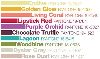 Pantone Fall Colors 2010