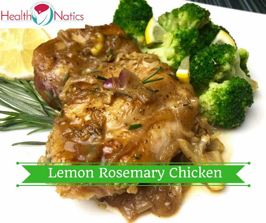 One Skillet Lemon Rosemary Chicken Thighs with Broccoli - HealthNatics