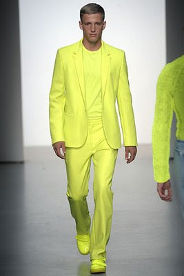 Men bright yellow cardigan outfit catalog