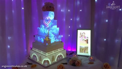 Disney Wedding Cake Projection Mapped by Angie Scott Cakes