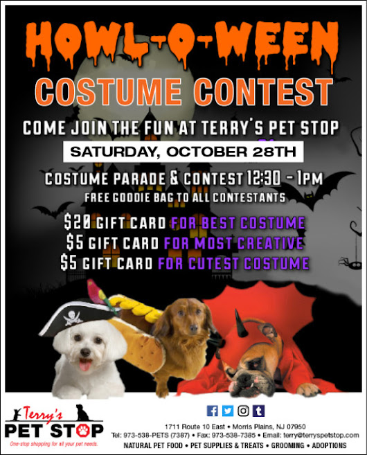 CELEBRATE HOWL-O-WEEN AT TERRY'S PET STOP!!