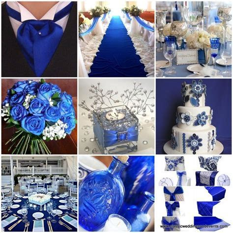 Royal Blue And Silver Wedding