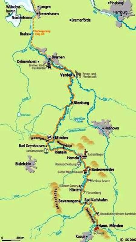 weser radweg karte pdf Weser Radweg Karte Pdf | Karte