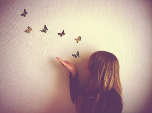 brunette, butterflies, butterfly, creative, dream, dreamy, fly, girl, hipster, imagination, inspire, photo, photography, tumblr girl, vintage
