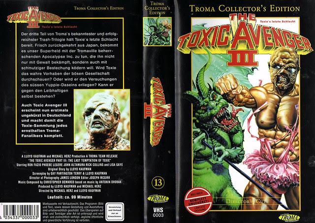 The Toxic Avenger 3 (VHS Box Art)