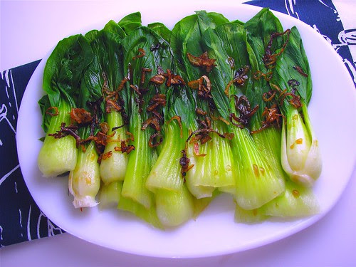 steamed blanched oyster sauce bok choy recipe