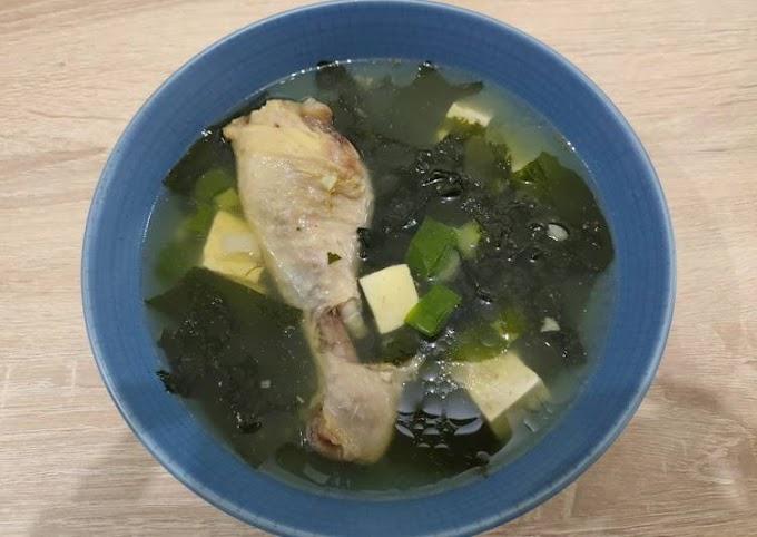 Resep Praktis Sup Ayam Rumput Laut Cita Rasa Tinggi