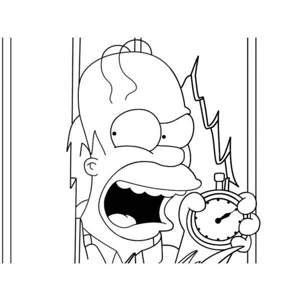 Disegno Di Homer Dei Simpson Da Colorare Per Bambini