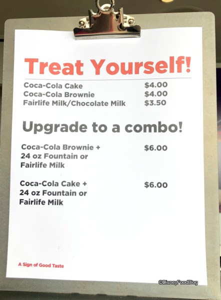 Coca Cola Rooftop Bar Menu