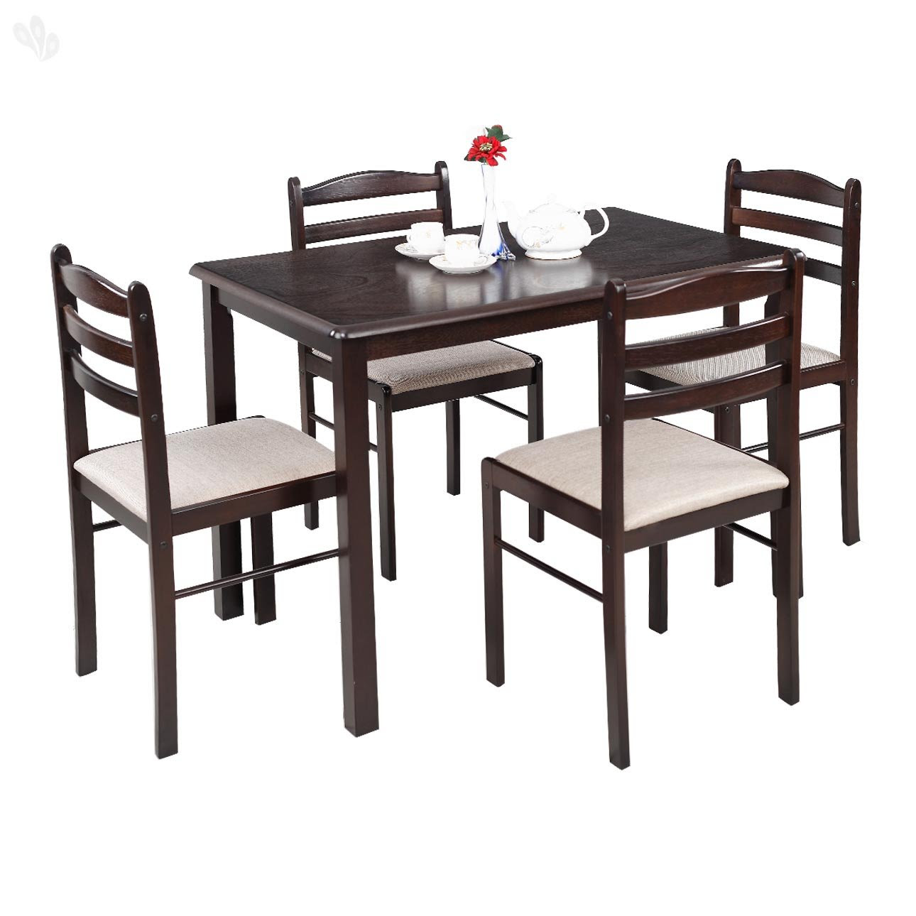 Royal Oak Hunter Four Seater Dining Table Set Dark Brown  Best Home and Kitchen Store