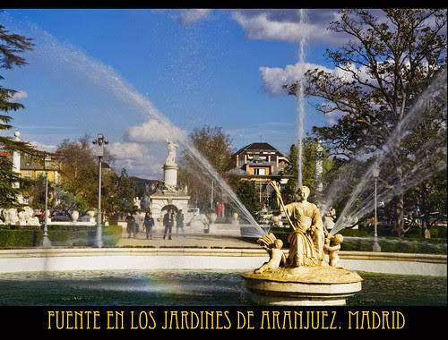 fuente en los jardines de Aranjuez. Madrid