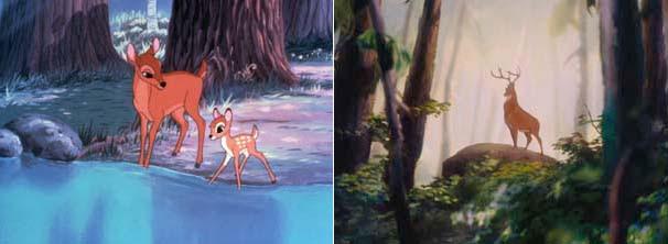 Bambi é filho de um cervo muito respeitado na floresta e aprende tudo através do amor da mãe (Foto: Divulgação / Disney)