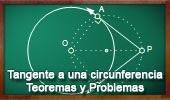 Recta Tangente a una Circunferencia. Teoremas y Problemas.