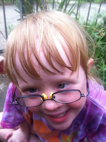 Glasses repair in action