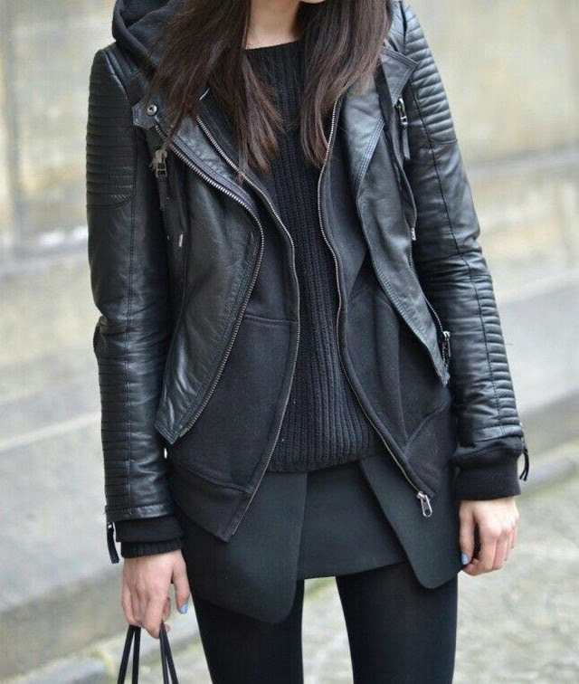 black layers fashion fall winter blogger 2014 totally black