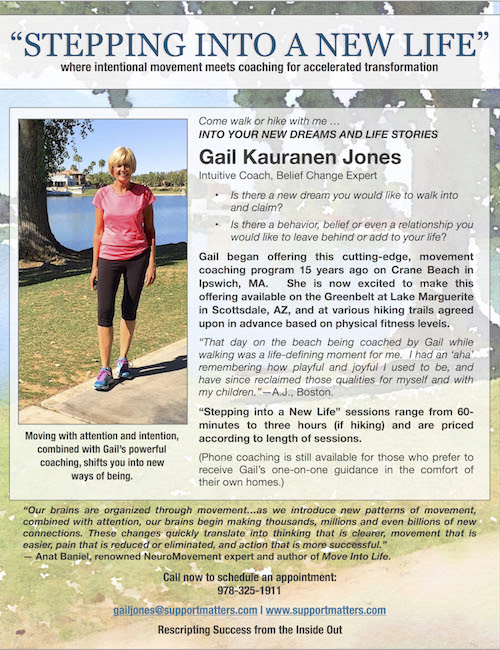 Moving into a new life by Gail Kauranen Jones, Coach and Author | Support Matters
