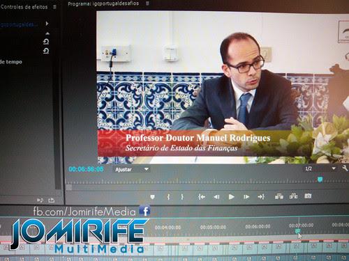 Gravação e Produção de vídeo com Manuel Rodrigues, Secretário de Estado das Finanças