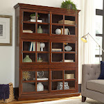 Charlotte Stackable Bookcase with Glass Door 3-Pack