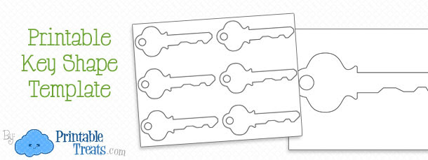 Printable Key Shape Template — Printable Treats.com