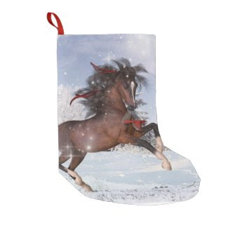 Christmas Holiday Horse Stocking Small Christmas Stocking
