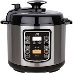 SPT EPC-13C Pressure Cooker - 1000W - 6.6 qt - Stainless Steel