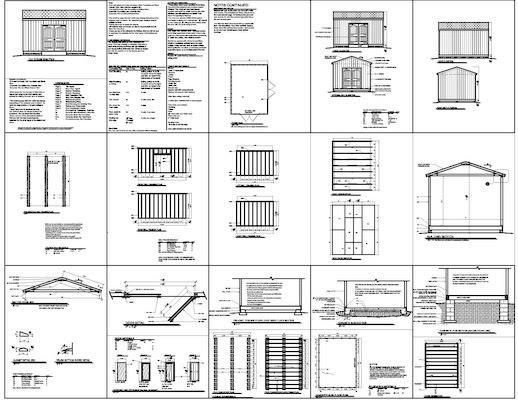 small storage buildings free 12x16 shed plans pdf