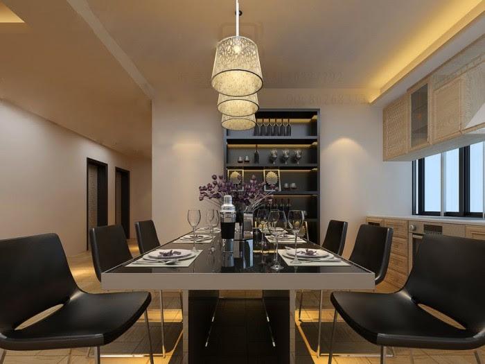 triple pendulum lit high contrast dining china