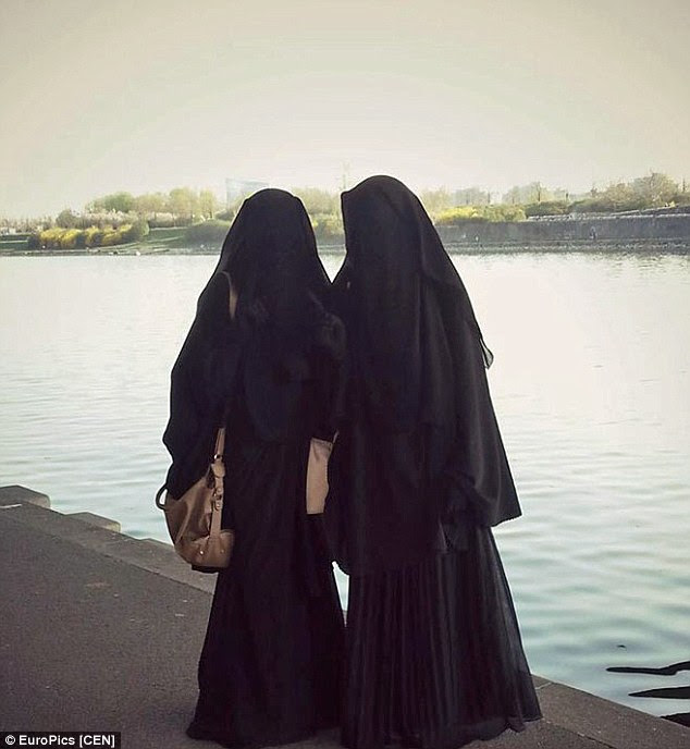 Looking over the Euphrates: Sabina said she and Samra had ended up in the Islamic State stronghold Raqqa