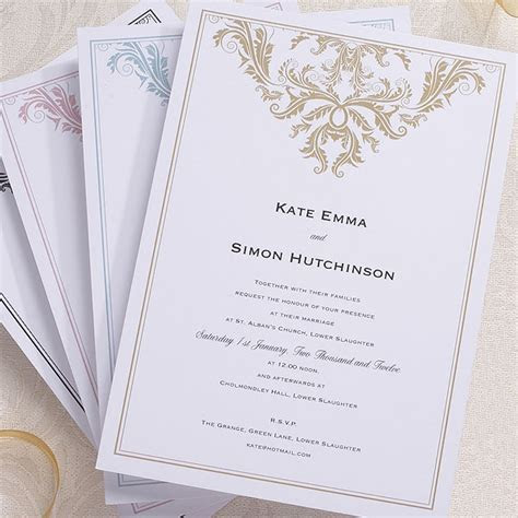 Baroque Invitation   Confetti.co.uk