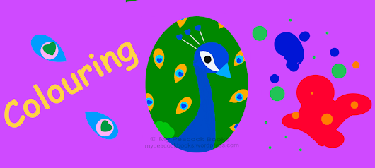 #Colouring: A Walk In Nature Peacock #MPBooks