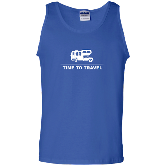 100% Cotton Tank Top - Time to travel, Motorhome