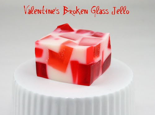 Valentine's Broken Glass Jell-O