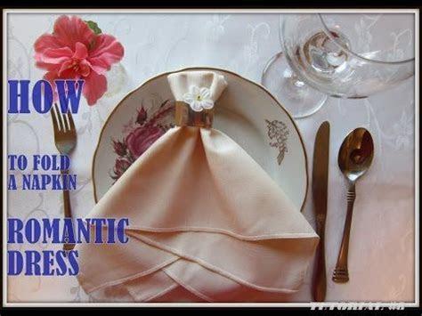 Napkin Folding: a Napkin Wedding Dress   YouTube   Amor