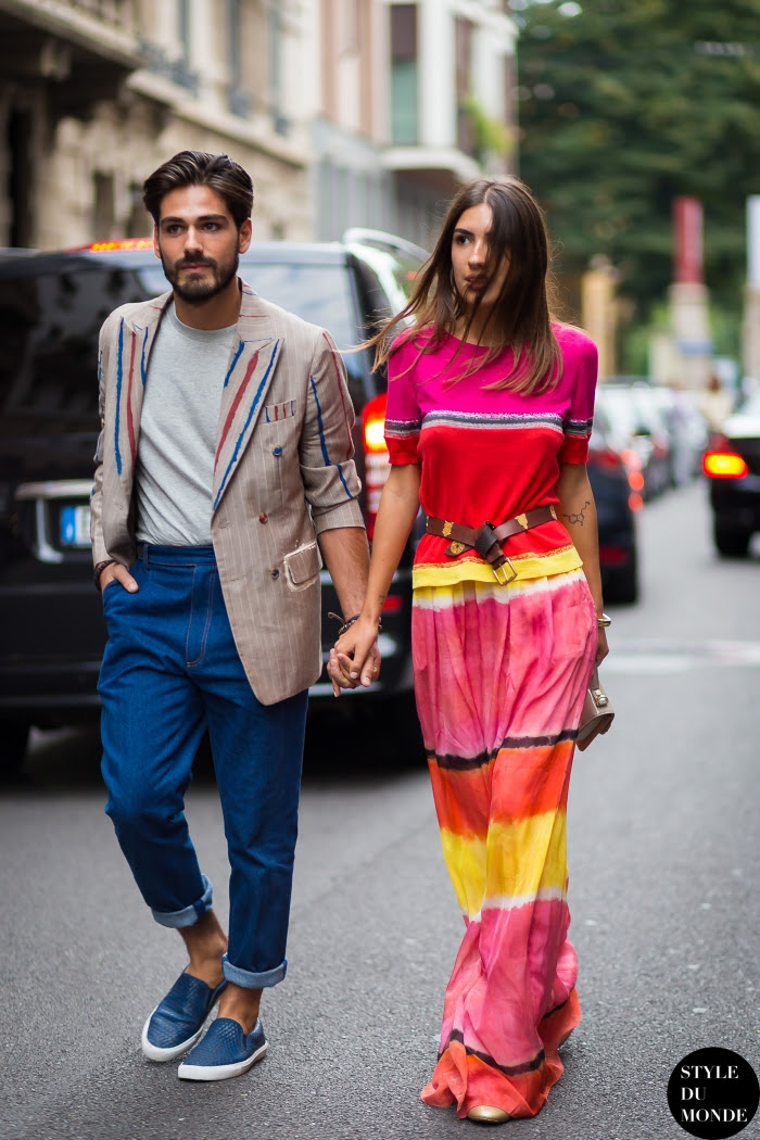 Patricia Manfield and Giotto Calendoli Street Style Street Fashion Streetsnaps by STYLEDUMONDE Street Style Fashion Blog
