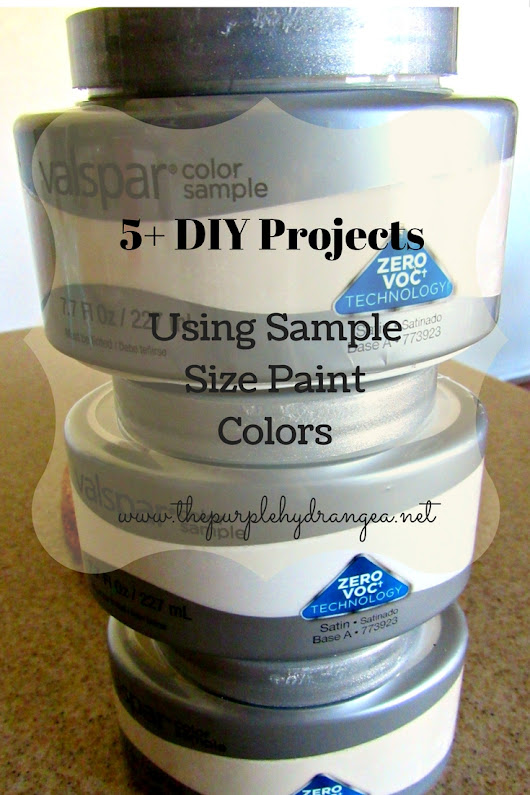 5 DIY Projects Using Sample Paint Colors - The Purple Hydrangea
