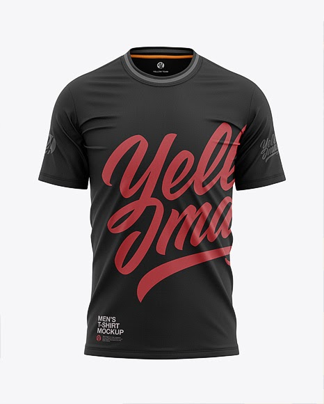 Download Mens Tight Round Collar T-Shirt Front View Jersey Mockup ...