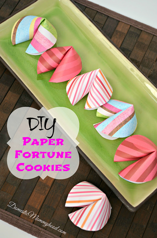 Make your own Fortune Cookie out of Paper - Domestic Mommyhood