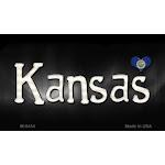 Smart Blonde M-9454 Kansas Flag Script Novelty Metal Magnet - 3.5 x 2 in.