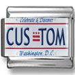 Washington, DC License Plate Custom Charm