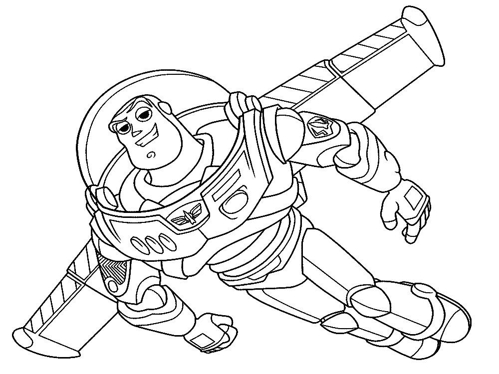 Juegos De Buzz Lightyear Para Pintar: Toy Story 4 Dibujos Para Colorear