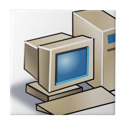 Retro Computer Ceramic Tile