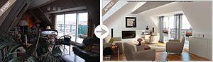 Français : Exemples de Home staging virtuel